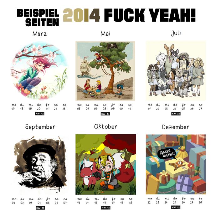 """Beispiele """"2014, Fuck Yeah!"""""""