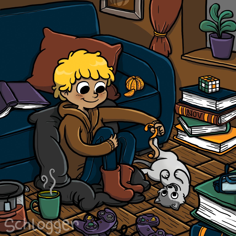 Gemütlicher November mit Katze