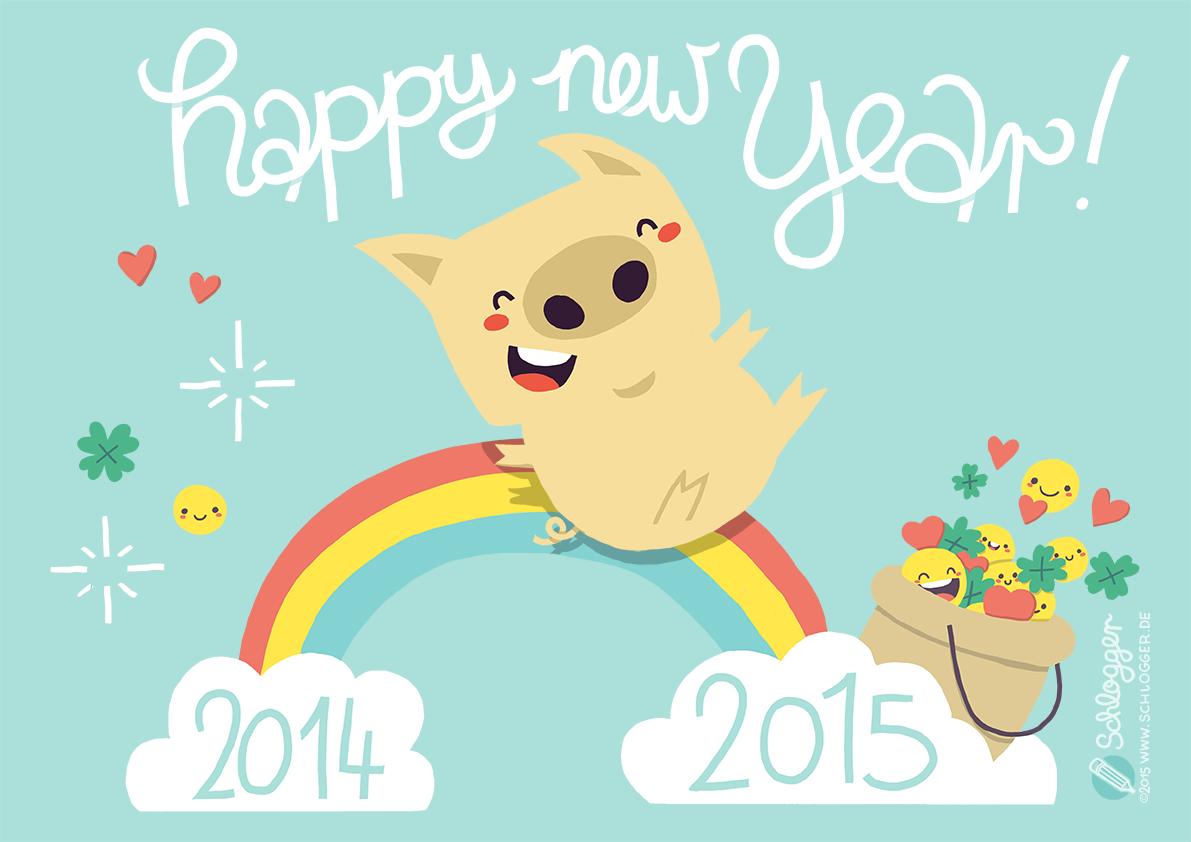 Glücksschwein für den Jahreswechsel 2015