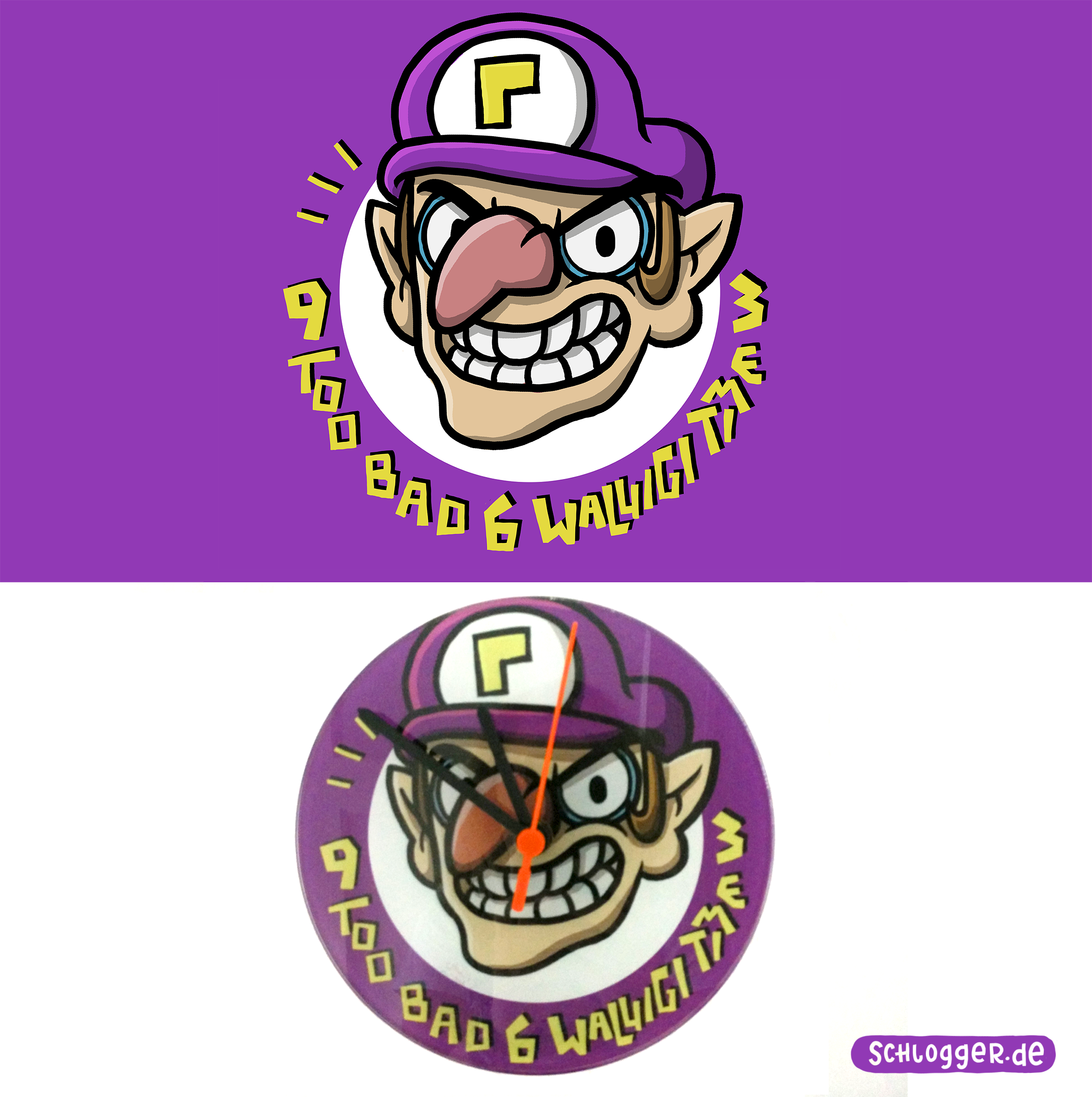 Too bad, Waluigi Time! - Uhr