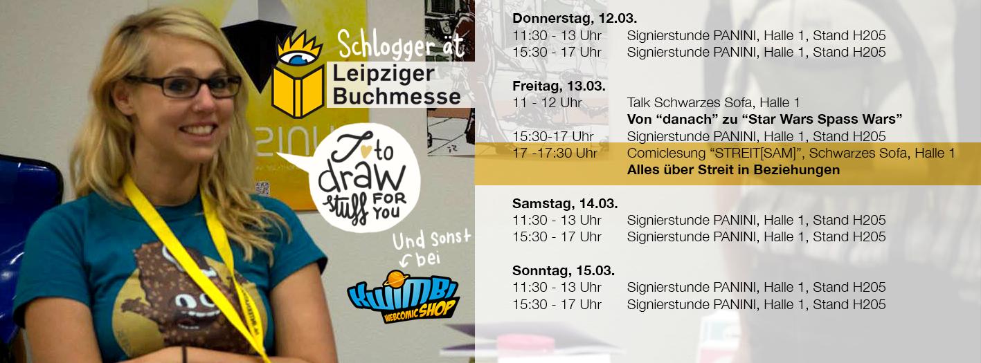 Signiertermine Leipzig Buchmesse Schlogger