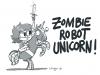 Zombie-Robot-Unicorn für Privat